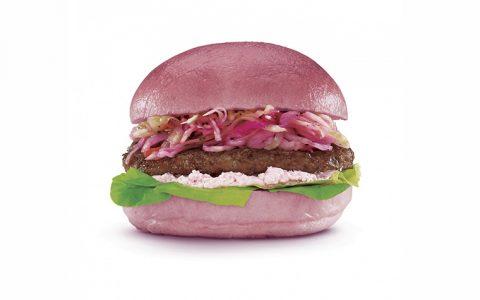Burger rose - Cancer du sein