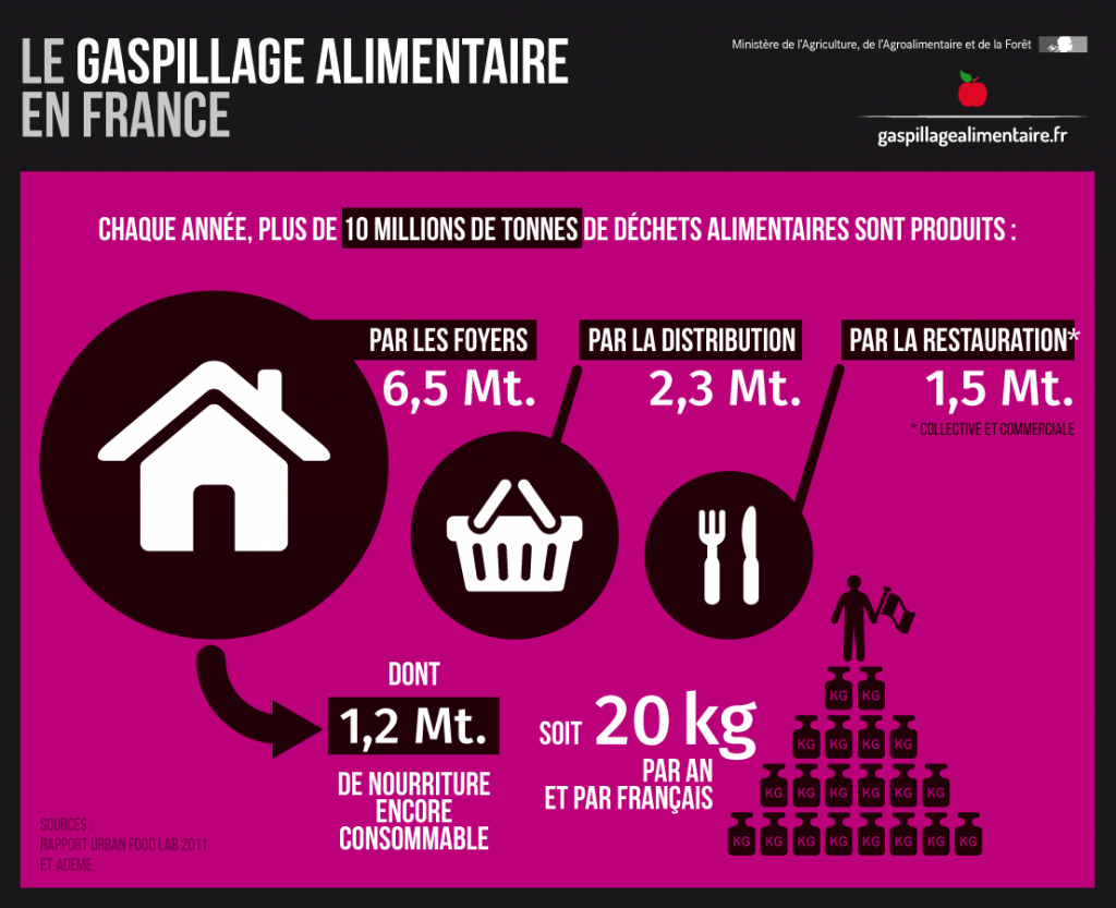 Gaspillage alimentaire en France