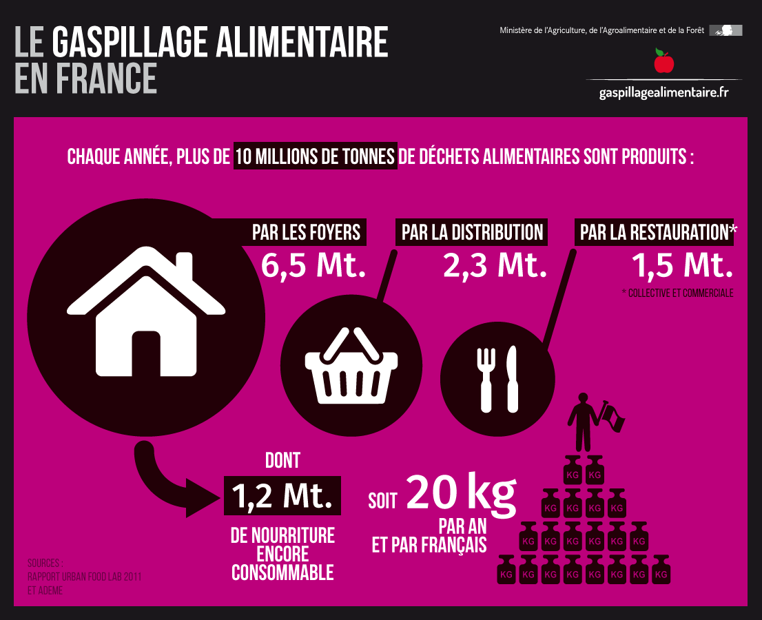 Gaspillage alimentaire en France (alim''agri)